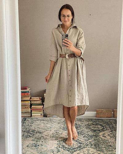 Women's linen dress SCARLETT