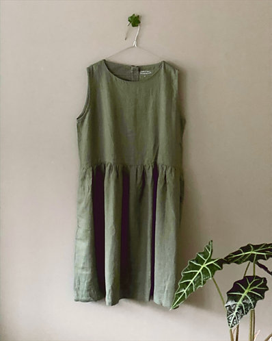 Dress sleeveless, Olive, XL