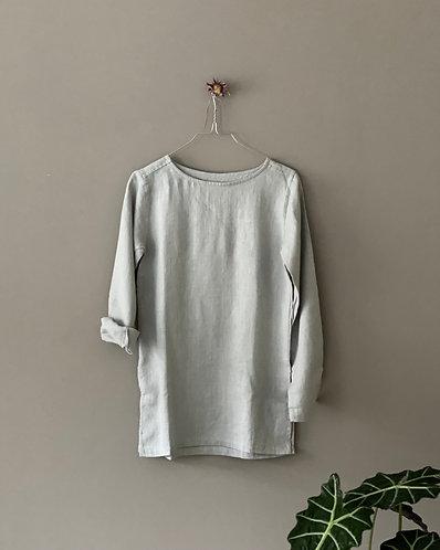 BASIC TUNIC LONG SLEEVE, light grey, XS