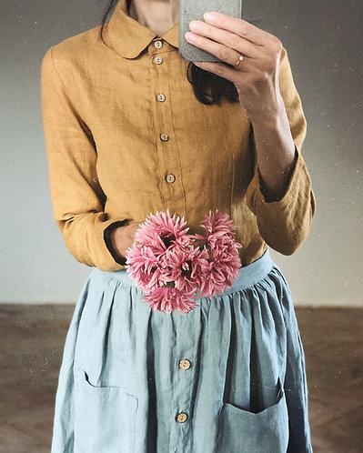 Women's linen shirt EMILY long sleeve