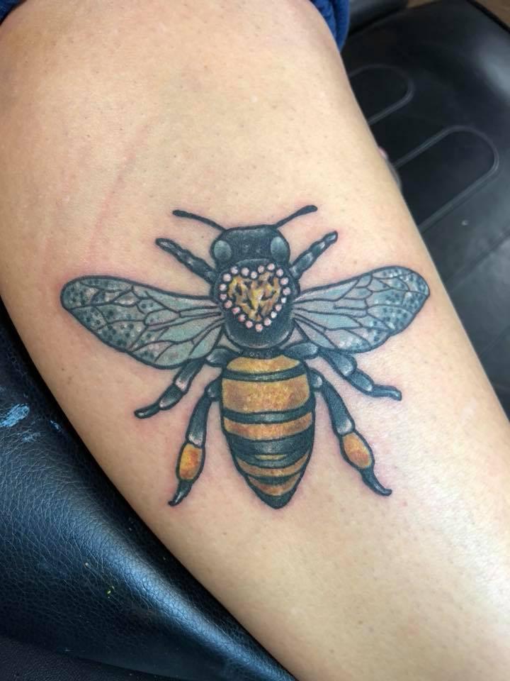 Val Busquets Full Color Tattoo Jewel Bee Tattoo Crowned Raven Tattoo South Bend Tattoo.jpg