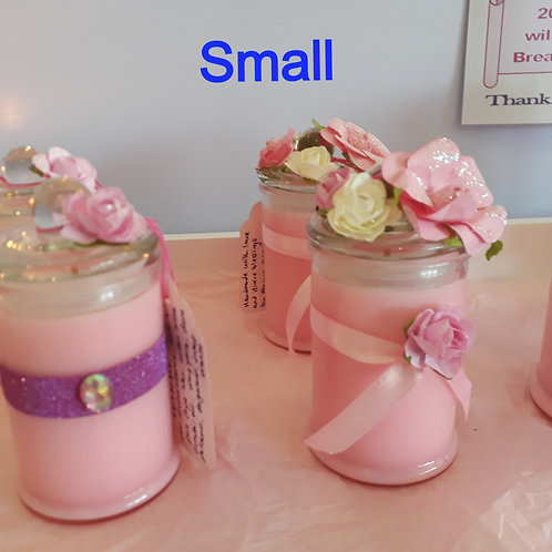 Fundraiser Candles Breast Cancer Awareness SMALL