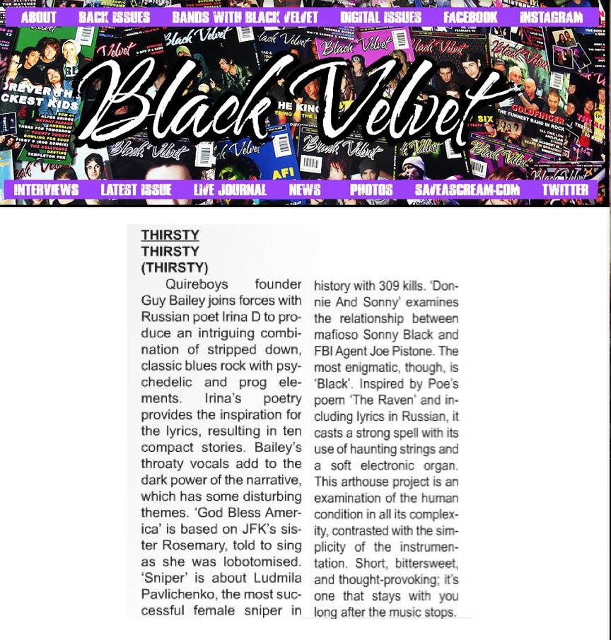 Black Velvet Magazine - Review