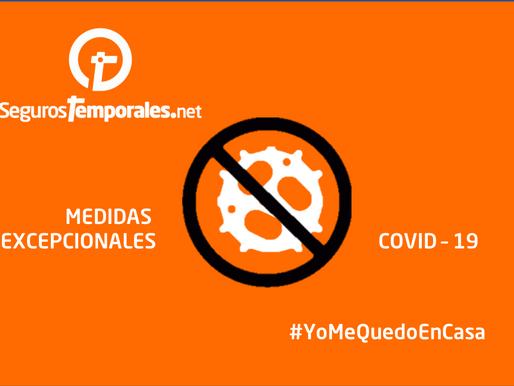 Comunicado segurostemporales.net: unidos para afrontar el covid-19