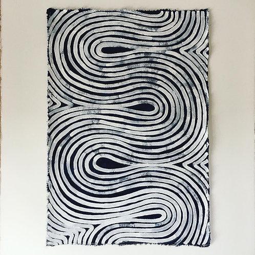 Swirl Canvas Painting, original artwork