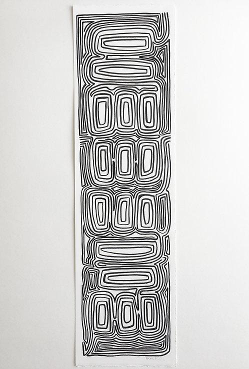 Black ink painting, original piece