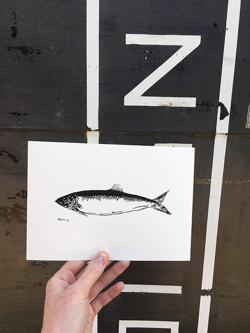 A5 Herring Screen Print