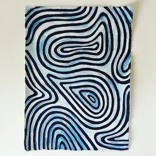 Curve Canvas Painting, original artwork
