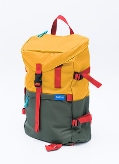 """ADV"" STREET BACKPACK/ YELLOW MIL GREEN"