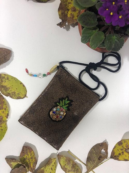 Vinleks Mini Ananas Figürlü Çanta