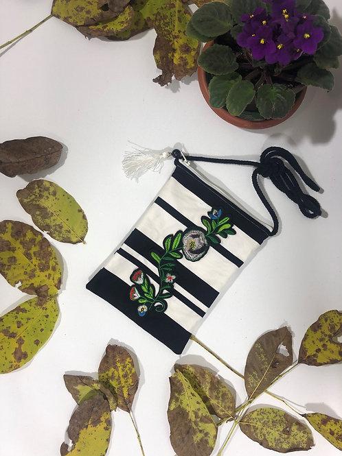 Pamuklu Yeşil Tasarımlı Mini Çanta