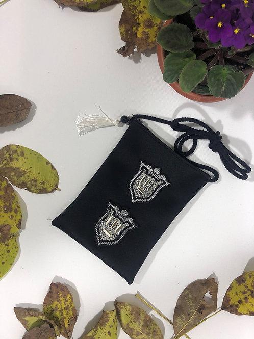 Kadife Özel Amblem Figürlü Mini Çanta