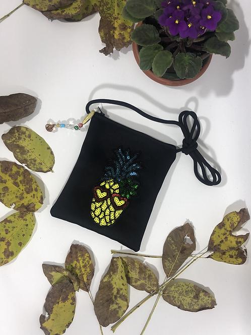 Ananas Figürlü Mini Çanta