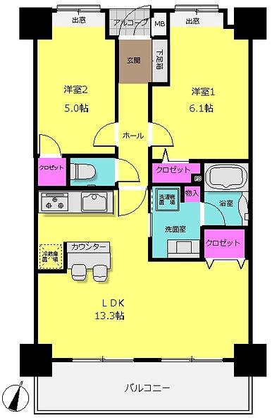 アルバクレスタ箱崎-503号_間取図 (2).jpg