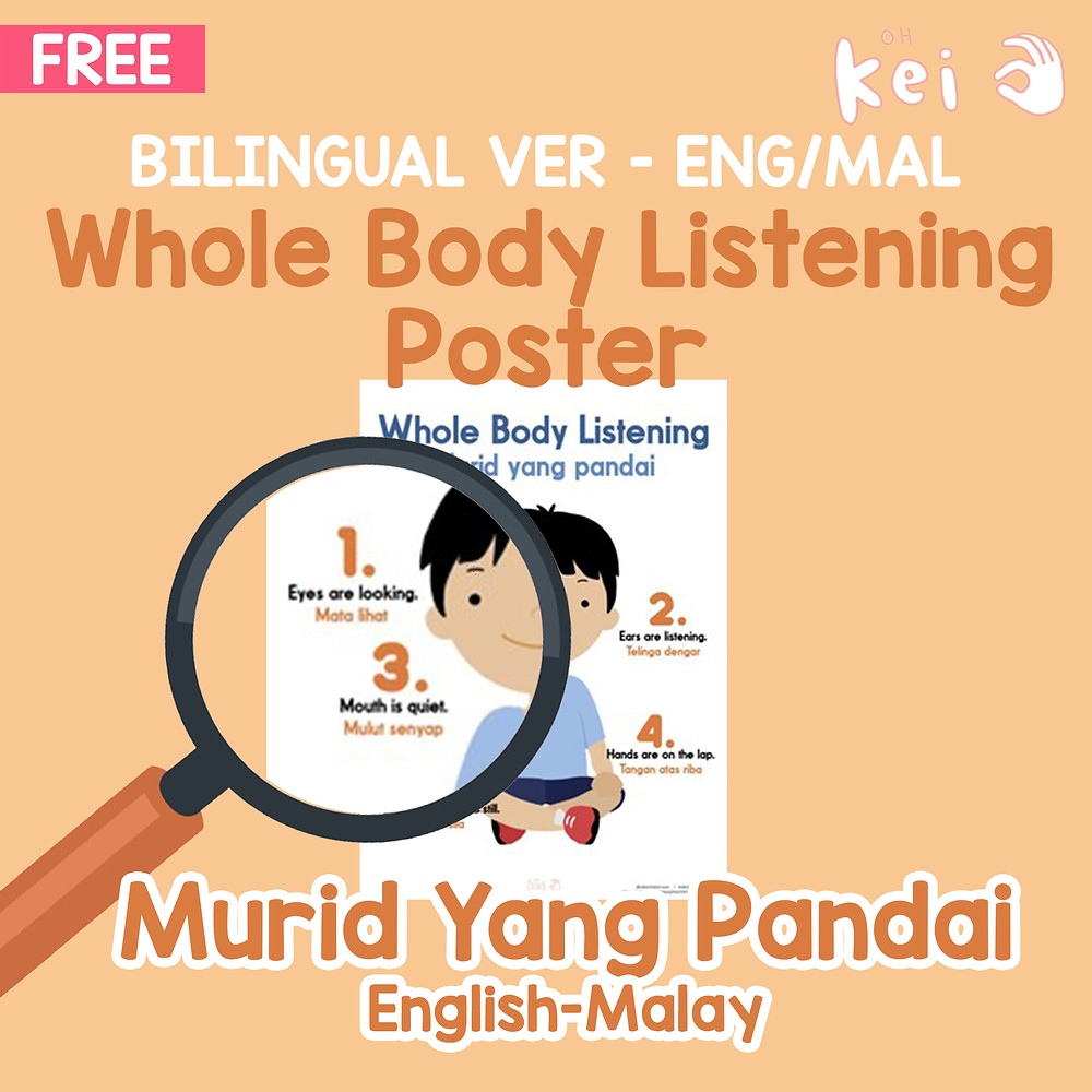 Free Whole Body Listening Poster
