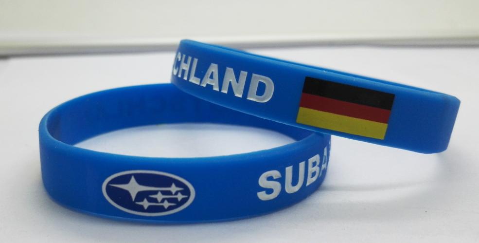 Printed logo wristband
