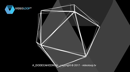 VideoLoop.tv | A wired dodecahedron rotates on its axis