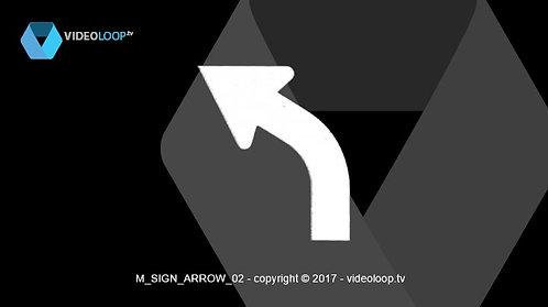 VideoLoop.tv | Warning arrows signs