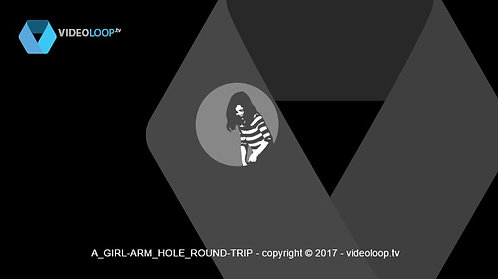 VideoLoop.tv | A girl pulls her leg out of a circle