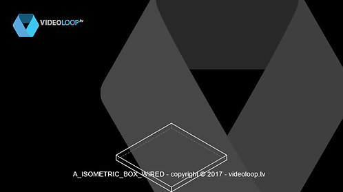 VideoLoop.tv | Growing isometric wired box animation
