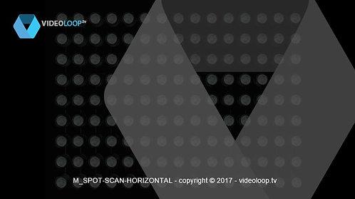 VideoLoop.tv | Spots lights horizontal scan