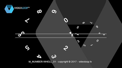 VideoLoop.tv | A large and small number wheels