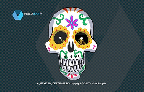 videoloop.tv | A hand drawing mexican death mask