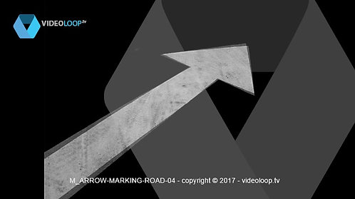VideoLoop.tv | Road arrow marking