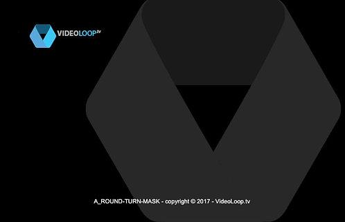 videoloop.tv | Round mask turning
