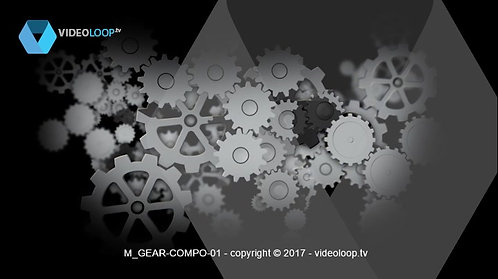 VideoLoop.tv | Animated 3D wheel clockwork