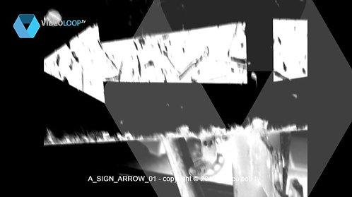 VideoLoop.tv | Double arrows road mark