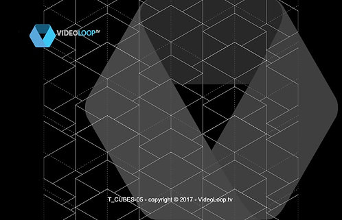 VideoLoop.tv | Tiled isometric wired cube - Can be repeated on all its axes