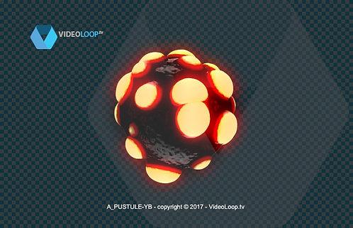 videoloop.tv | A 3d pustule rotates