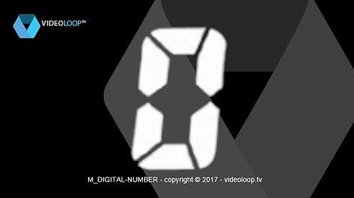 VideoLoop.tv | Digital numbers