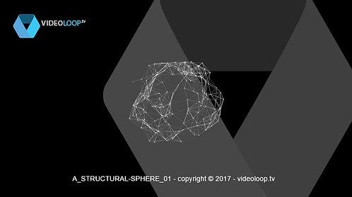 VideoLoop.tv | Sphere triangulation animation