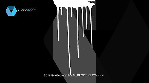 VideoLoop.tv | Blood flows on the wall