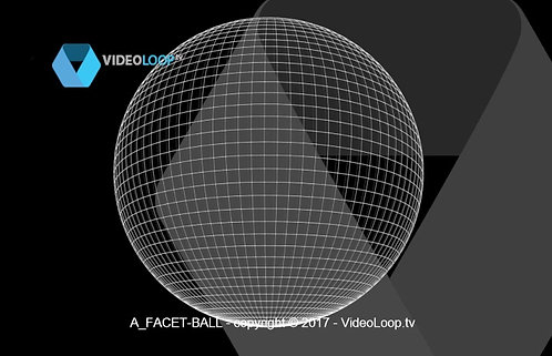 VideoLoop.tv | A facet ball rotates on its axis