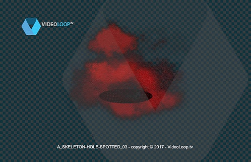 videoloop.tv | A skeleton appears through a stain and comes out of a hole