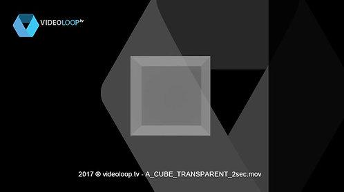 VideoLoop.tv | A rotating transparent cube