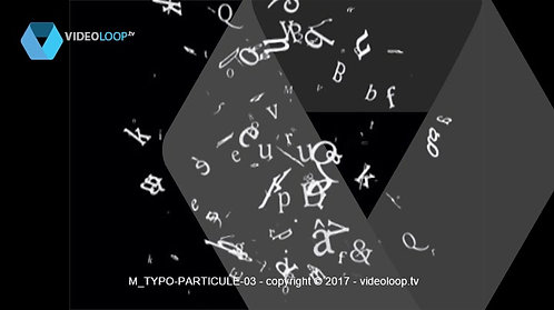 VideoLoop.tv | Typo particles
