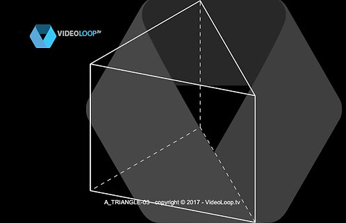 VideoLoop.tv | A wired isometric triangle is growing above