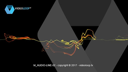VideoLoop.tv | Audio colored lines animation
