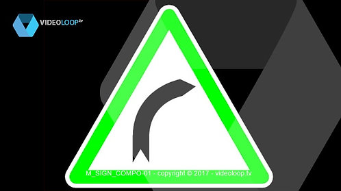 VideoLoop.tv | Green warning signs