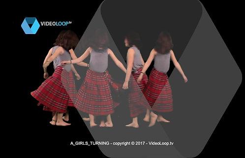 videoloop.tv | A girls turning