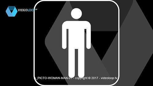 VideoLoop.tv | A woman and man pictogram