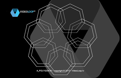 VideoLoop.tv | Seven polygons rotate on a circle to form a mandala