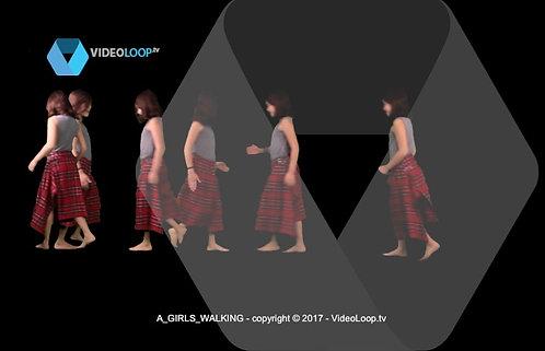 videoloop.tv | A girls walking