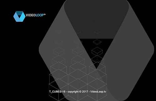 VideoLoop.tv | Tiled isometric wired cube - Can be repeated on horizontal axis