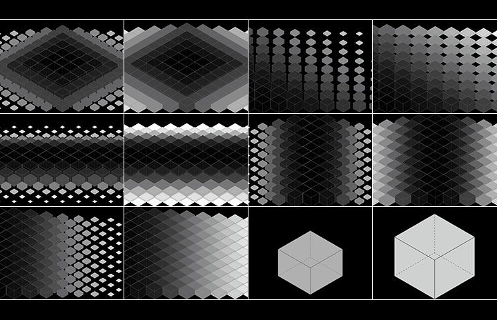 3D isometric cube video pack