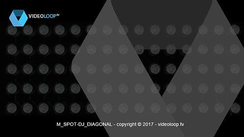 VideoLoop.tv | Spots lights diagonal dj booth
